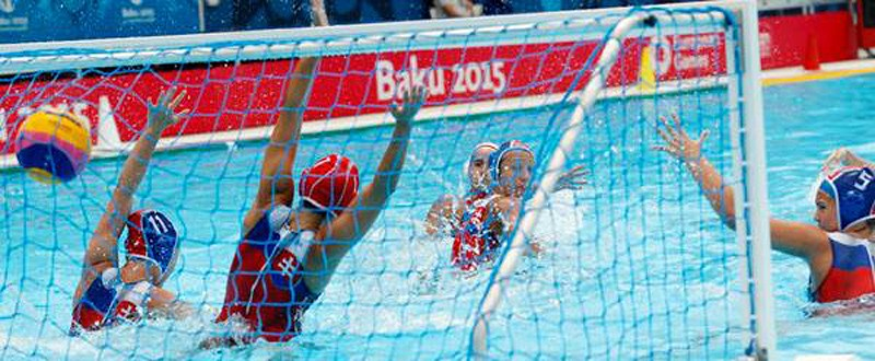 España- Rusia final femenina de waterpolo en Bakú